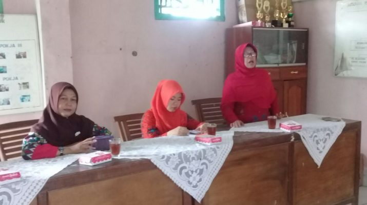penyampaian materi oleh bidan desa Widodaren